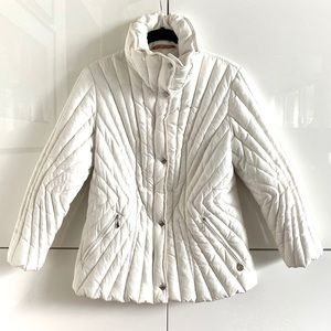 CB4 Pure Goose Down White Puffer Jacket w/Belt